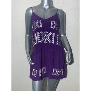 Izzy & Lola Womens Dress M Purple White NWT